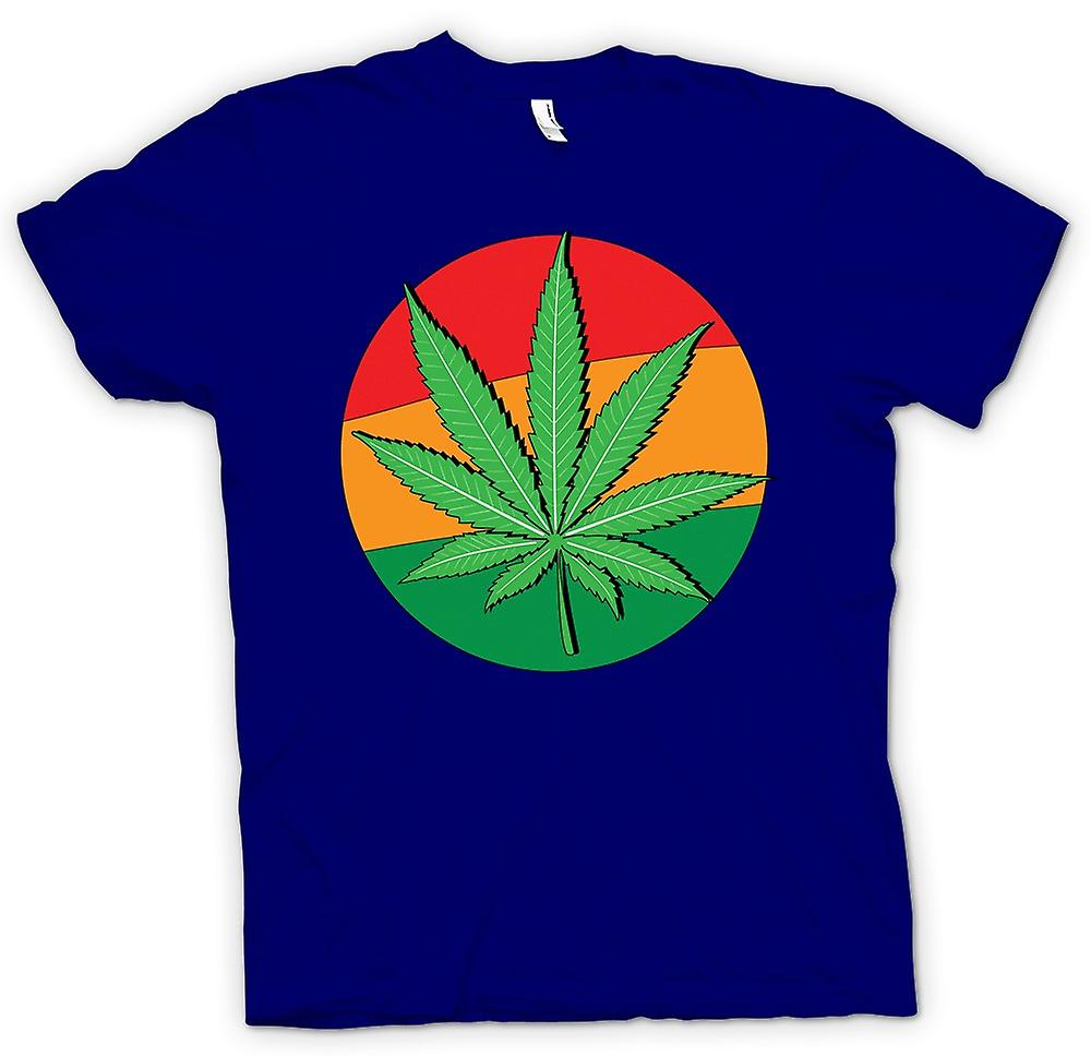 Mens T-shirt - Hash Leaf Jamaica Flag - Cool
