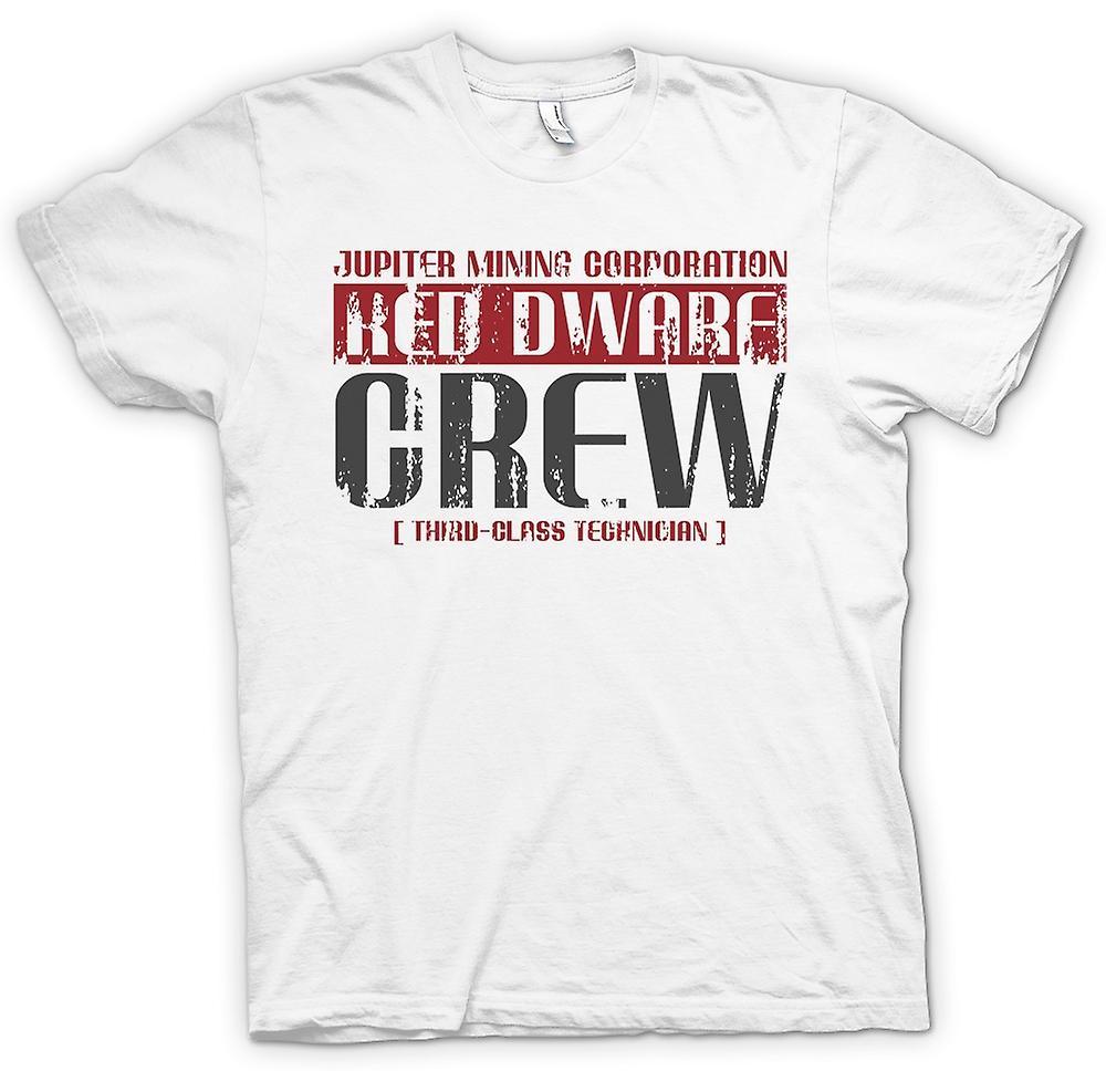 Womens T-shirt-Jupiter Mining Corp.  Zwerg-Crew - 3. Klasse-Techniker