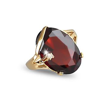 Guldpläterad ring med grenat Zirkonium och Cubic zirkonium