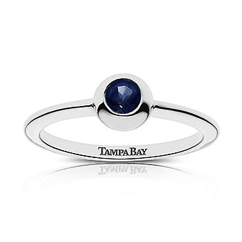 Tampa Bay Rays Tampa Bay gegraveerde donkere saffier ring