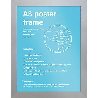 Eton sølv ramme A3 plakat / Print stel