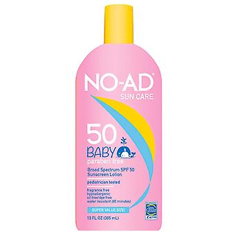 No-ad baby sunscreen lotion, spf 50, 13 oz