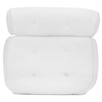 TRIXES Luxury Bath Pillow 2 Panel Design and Suction Cups Colour White