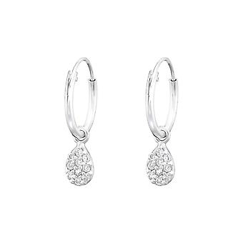 Hanging Pear - 925 Sterling Silver Ear Hoops - W36806X