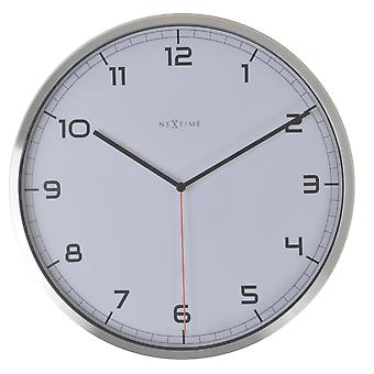 NeXtime - Wall clock – 35 x 4.2 cm – Aluminum - White - 'Company Arabic'
