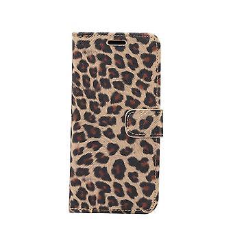iPhone 11 Monedero Caso Leopard Cover-Amarillo