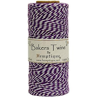 Hemptique Cotton Bakers Twine Spool 2 Ply 410 Feet Pkg Purple White Bts2 2940