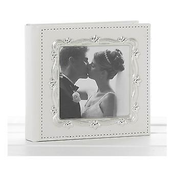 Deluxe Leather Effect White Wedding Day Photo Album