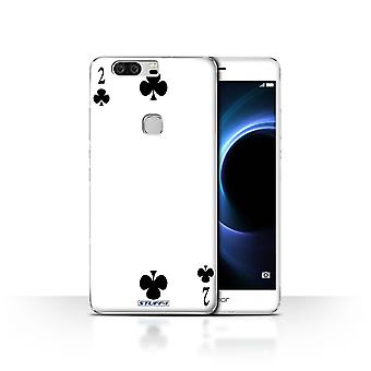 STUFF4 Case/Cover for Huawei Honor V8/2 of Clubs/Playing Cards