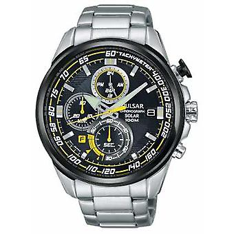 Pulsar Mens WRC Solar Accelerator Stainless Steel Chronograph PZ6003X1 Watch