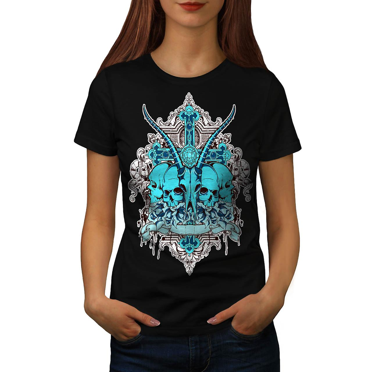 Dead Sacrifice Goat Animal Death Women Black T-shirt | Wellcoda