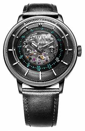 FIYTA Mens 3d Time Automatic Iron Plated WGA868003.BBB Watch