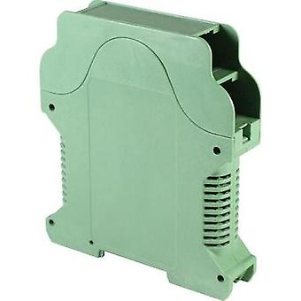 DIN rail casing with air vents 112 x 99 x 22.5 Polyamide Green Axxatronic 1 pc(s)