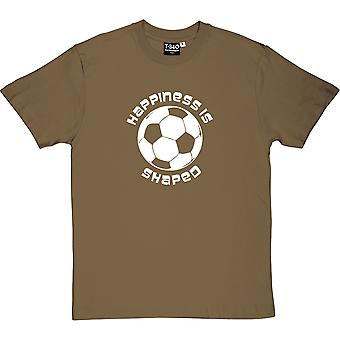 Happiness is Football Shaped Men's T-Shirt