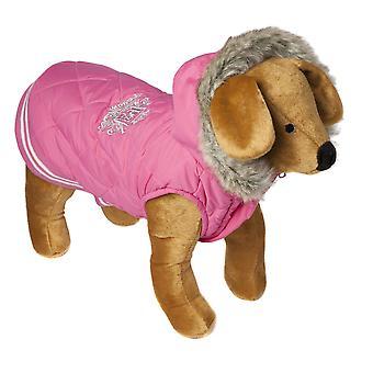Doggy ting vaffel frakke Pink Large 50cm