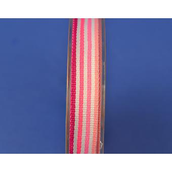 9.5mm Striped Pink Grosgrain Craft Ribbon - 8m Reel | Ribbons & Bows for Crafts