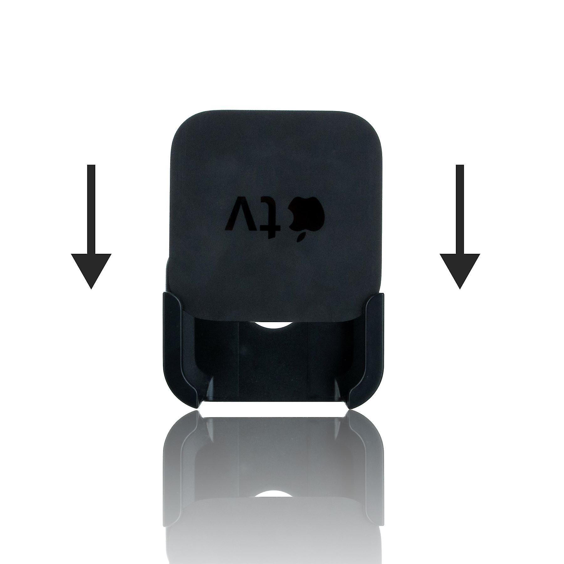 InventCase TV Mount Bracket Holder Wall Hanging Mounting Kit for Apple TV (4th Generation, A1625) 2015 - Black