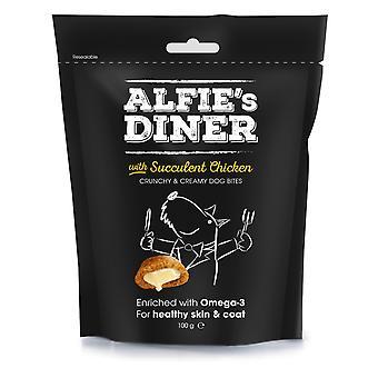 Alfie's Diner kylling behandler 100g (pakke med 10)