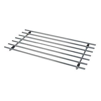 Swift Rectangular Chrome Trivet, 50cm x 24cm