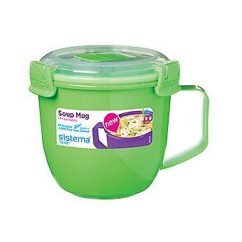 Sistema Klip It mikrobølgeovn suppe at gå krus, 565ml, limegrøn