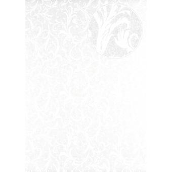 Baroque wallpaper Atlas PRI-523-4 non-woven wallpaper smooth with floral ornaments shimmering ivory bright ivory perl white 5.33 m2
