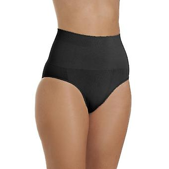 Camille Womens Seamfree Shapewear Comfort Control Brief In Black