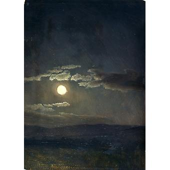 Albert Bierstadt - Cloud Study Moonlight Poster Print Giclee