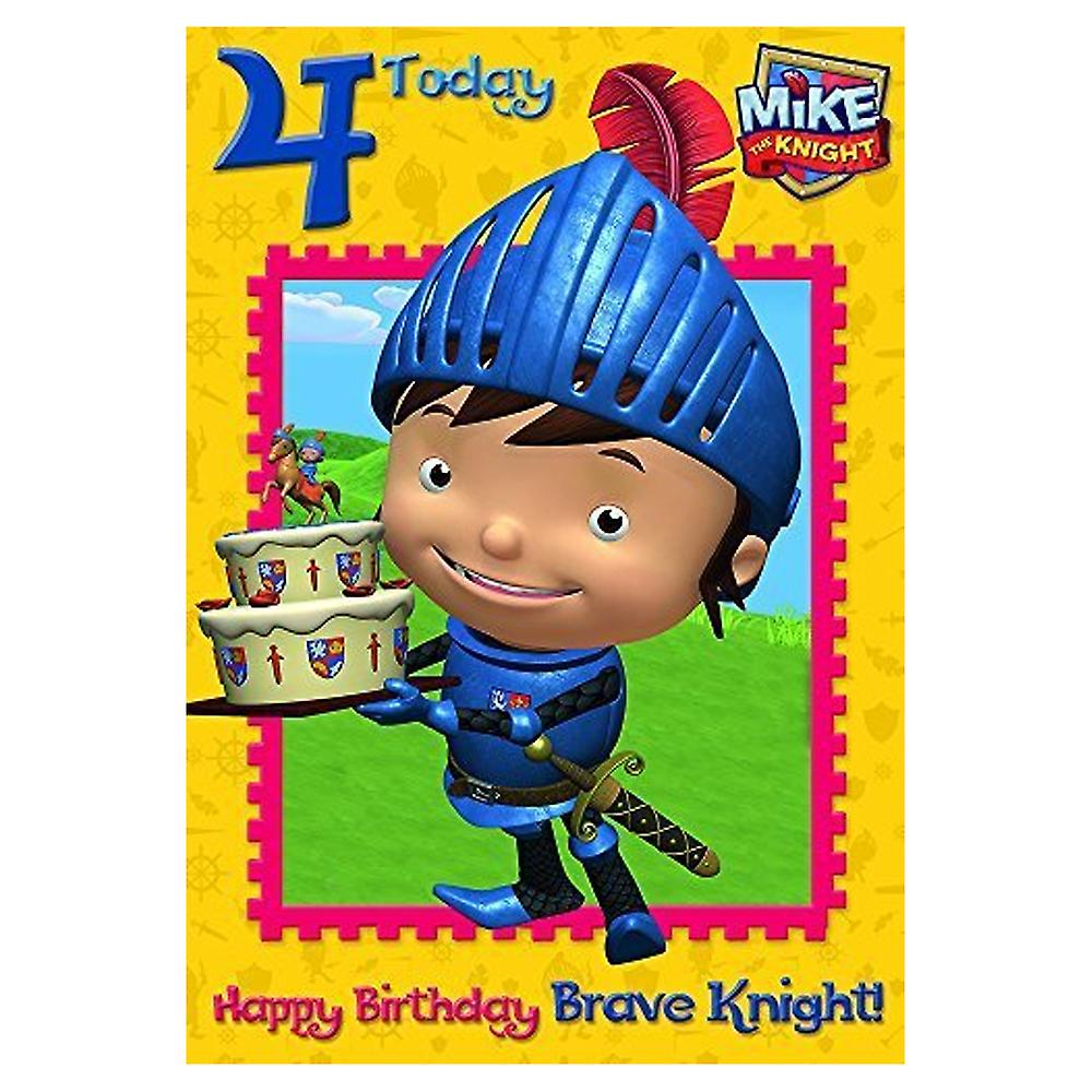 The Art Group Mike The Knight Age 4 Birthday Card