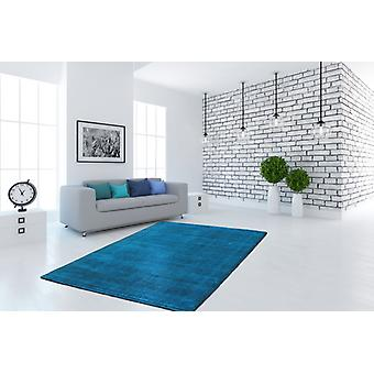 Flat pile rug hand-woven cotton rugs flat pile quality turquoise