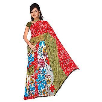 Tela bhavini Georgette impresos Casual sari Sari Bellydance