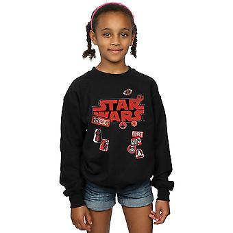 Star Wars Girls die letzten Jedi-Abzeichen-Sweatshirt