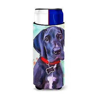 Great Dane Natural Ears Black Pup Ultra Beverage Insulators for slim cans