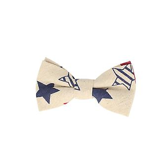 Andrews & co.-bound fly stars star cream white loop bow tie 10 cm x 5.5 cm