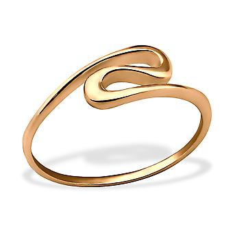 Wave - 925 Sterling Silver Plain Rings