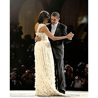 Presidente y primera dama danza en la impresión de cartel Inaugural Ball Washington DC 2009 56 por McMahan Foto archivo (8 x 10)