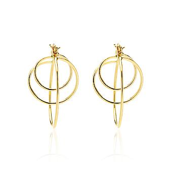 14k Yellow Gold Twisted Loops Hoop Earring with Gift Box
