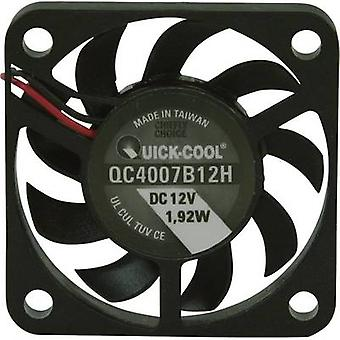 Axial fan 12 Vdc 10.82 m³/h (L x W x H) 40 x 40 x 7 mm QuickCool