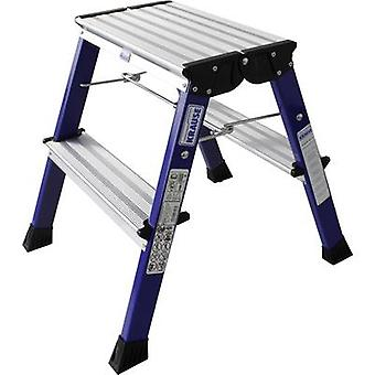 Aluminium Step stool foldable Operating height (max.): 2.45 m Krause