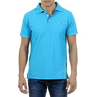 Andrew Charles Mens Polo Short Sleeves Light Blue Semelo