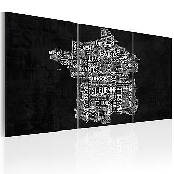 Artgeist Canvas Print From Montpelier to St Etienne black and white