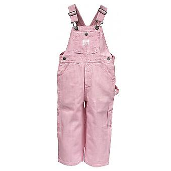 Key Industries Girls Dungarees - Pink Stripe Age 9m-7yr Pastel Infant Overall