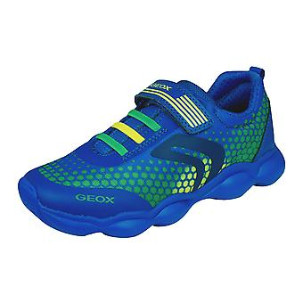 Kids Geox Trainers J Munfrey Boy C Shoes - Blue and Green