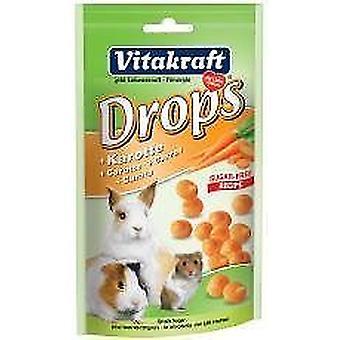 Vitakraft Small Animal Rabbit Sugar Free Carrot Drops 75g