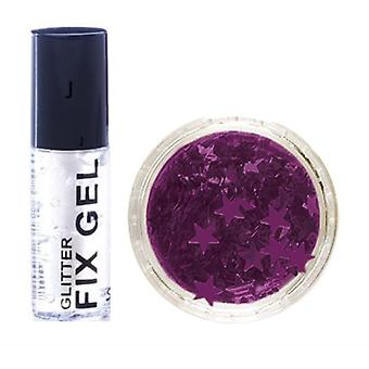Stargazer Fix Gel Glue + Purple Glitter Stars