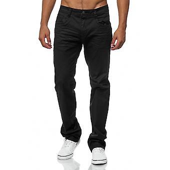 Men's jeans pants coated black regular fit big size oversized