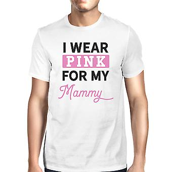 I Wear Pink For My Mommy Mens Breast Cancer Support T-Shirt White
