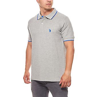 U.S. POLO ASSN. Men's short-sleeved grey polo shirt