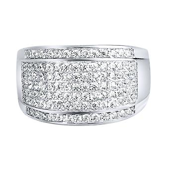 Sterling 925 zilver pave ring - ronde ICE