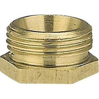 GARDENA 7273-20 Brass Reducer nipple 47.81 mm (1 1/2) OT, 39.0 mm (1 1/4) IT