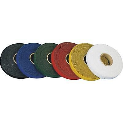 Hook-and-loop tape for bundling Hook and loop pad (L x W) 25000 mm x 15 mm Yellow Fastech T0601502081125 25 m